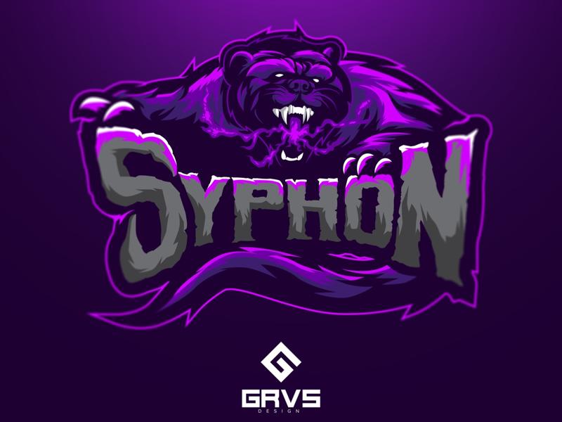 Syphon logo graphic design mascot logo sport tazmania esport