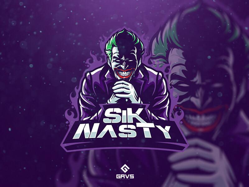 sik nasty joker inspired mascot