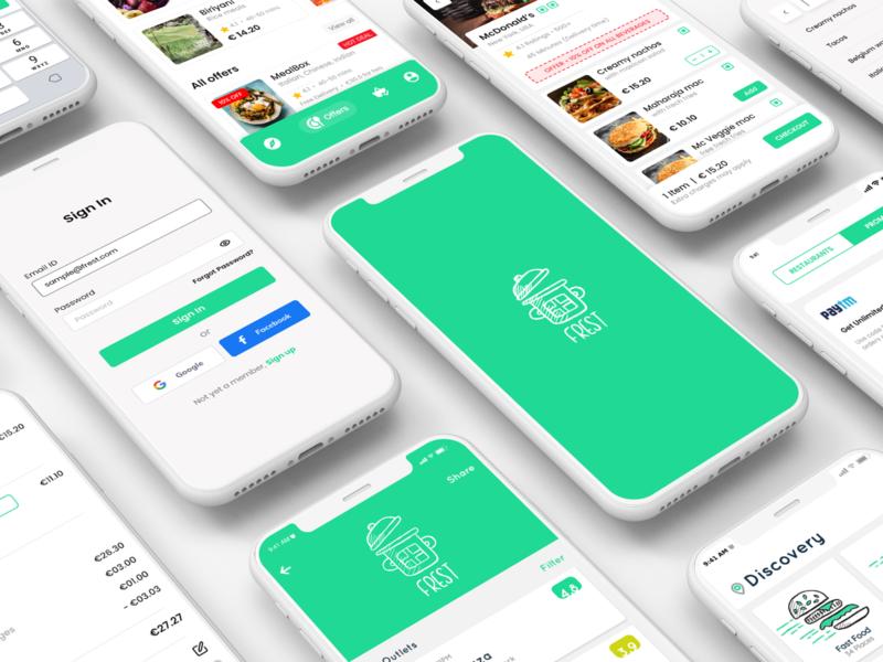 Fast food logo and icons 2 adobe photoshop mobile app adobe illustrator vector branding design graphic design
