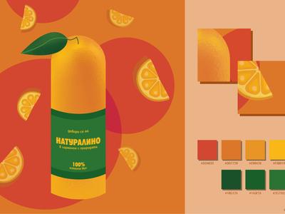 Fresh orange juice advertising page