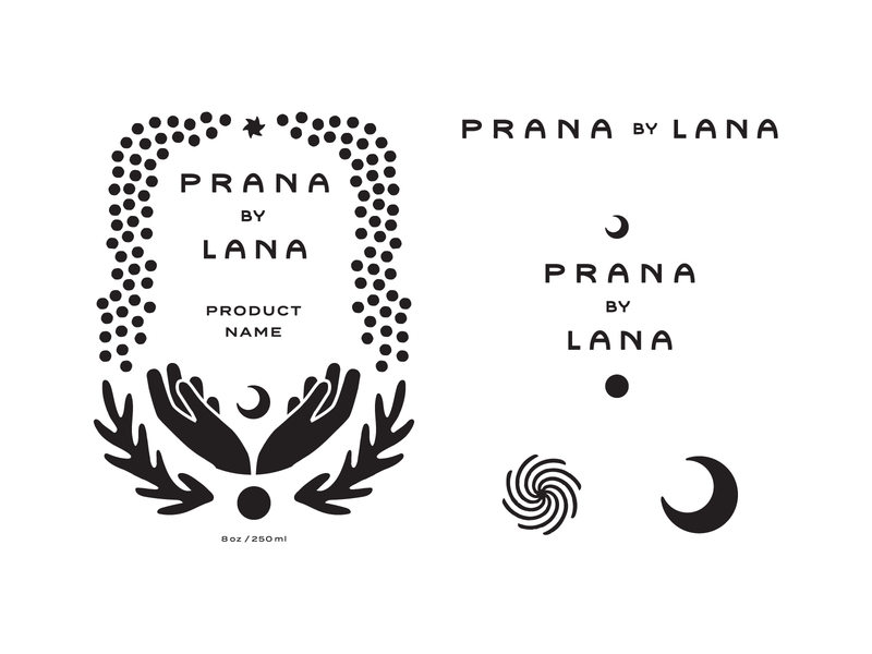 Prana Brand Assets packaging line art drawing logo logo design branding type typography lettering illustration