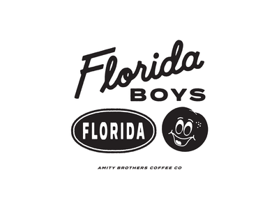 Florida Boys Branded Elements branding hand lettering line art drawing logo type typography lettering illustration