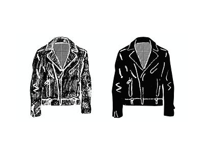 Biker Jacket (Sketch) branding line art drawing illustration
