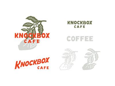 Knockbox line art branding logo type typography lettering illustration