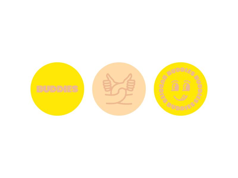 Buddy Social Icons icon branding line art logo typography lettering illustration