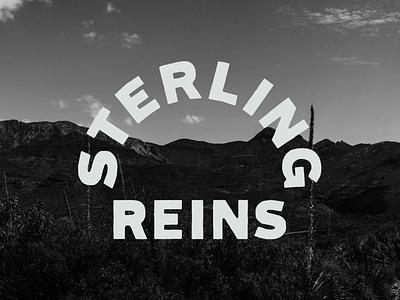 Sterling Reins Badge icon branding logo design hand lettering line art logo lettering illustration