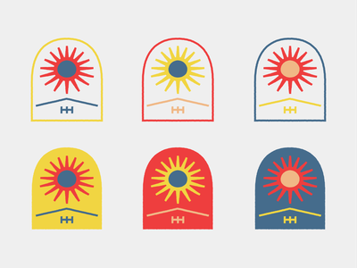 Sun Patch branding design line art drawing logo illustration
