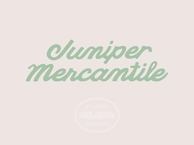 Juniper Mercantile Branding branding design drawing logo type typography lettering illustration