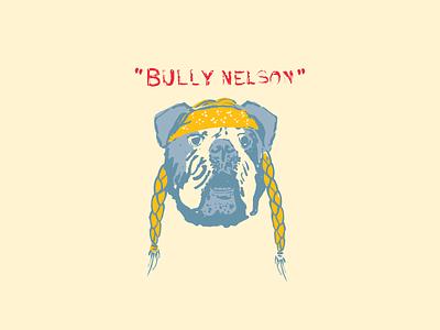 Bully design line art drawing lettering illustration