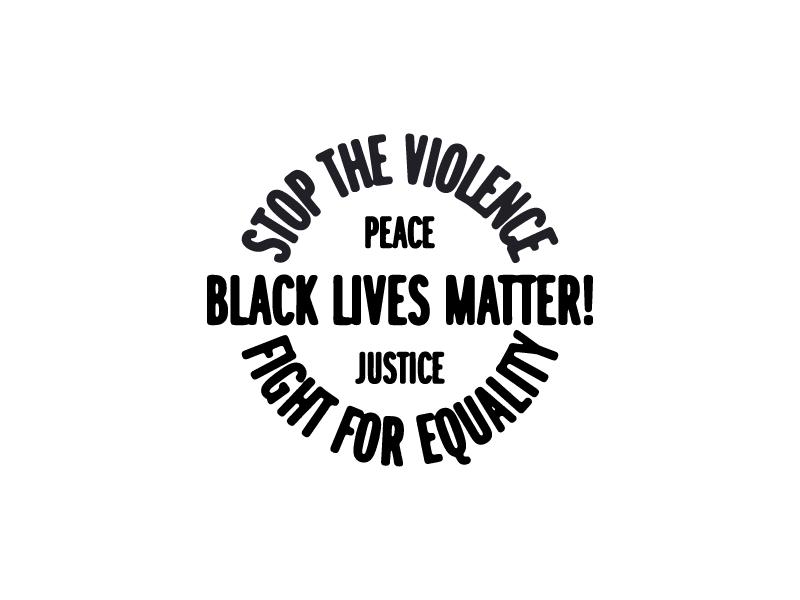 Black Lives Matter Badge typography type badge illustration