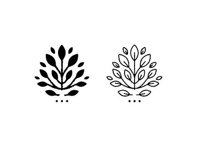 Floral Bouquet line art logo design drawing icon logo design illustration