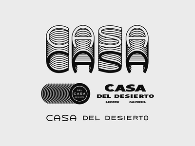 Casa Del Desierto type badge logo icon hand lettering lettering