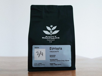 Amity Brothers Coffee Bags coffee bag packaging coffee branding design
