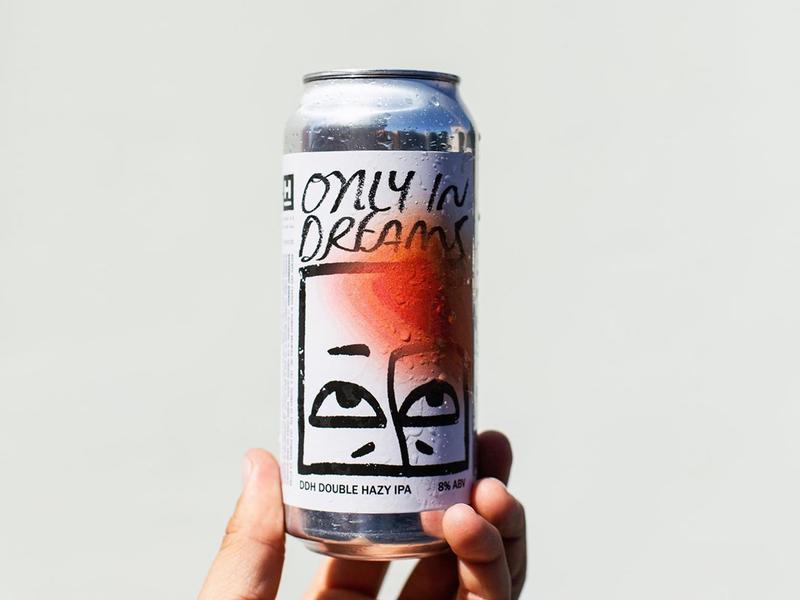 'Only in Dreams' Label Artwork & Design design lettering hand lettering type illustration craft beer packaging branding beer label label can beer