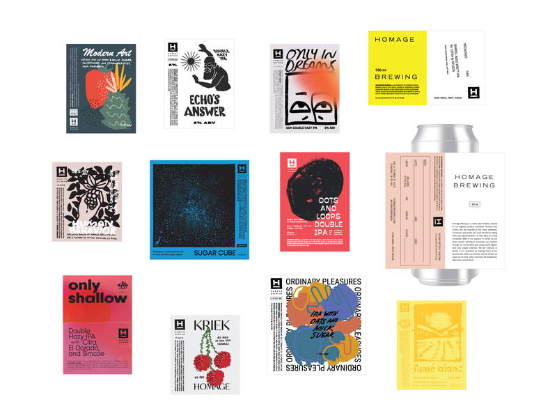 2019 Beer Labels labels beer branding packaging line art drawing type typography lettering illustration