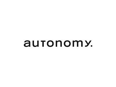 Autonomy Word Mark branding logos logo design typography type