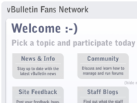 vBulletin Fans Network Layout/Design Concept