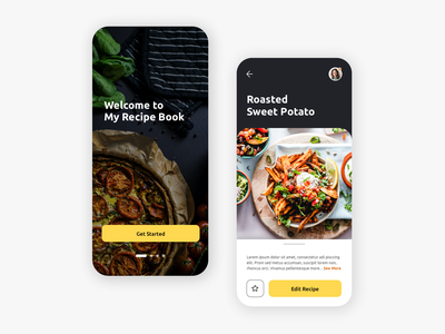 Recipe Book App phone app mobile app food photography recipe book recipes ux design ui design personal logo recipe app food application food app food recipe ux app ui