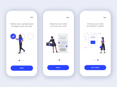 Illustrated App Walkthrough onboarding walkthrough people illustration flat illustration ux design ui design flat  design vector illustration mobile app ux illustration app ui minimalist vector