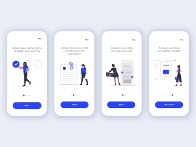App Walkthrough app walkthrough ios app phone app mobile app onboarding walkthrough office work people vector illustration flat illustration ui design ux design ux app illustration ui minimal vector minimalist