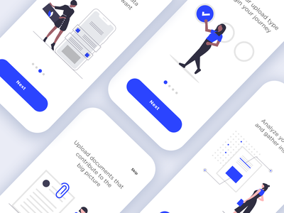 Mobile App Walkthrough app sign in walkthrough flat design flat illustration design mobile app ux design ui design ux app illustration ui minimal minimalist vector