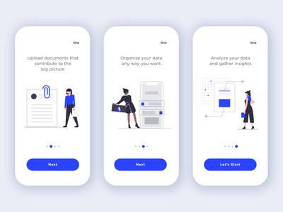 App Walkthrough vector illustration vectors wizard walkthrough screen ui design ux design mobile app illustration ux ui vector minimal minimalist app design walkthrough app