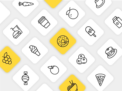 Food Icons minimal icons line icons icon design restaurant app restaurant icons restaurant food and drink food app food food icons iconography icons design illustration vector minimal minimalist