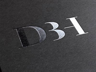 DBH Logo identity branding brand modern classic minimal logo