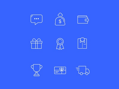 Ecommerce Icons line shop buy payment money ecommerce minimal icons