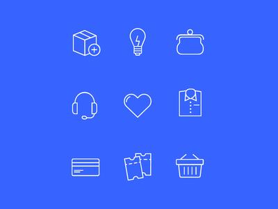 Ecommerce Icons modern minimal ecommerce shop buy shop money line icons vector icon kit icon pack icon set ecommerce