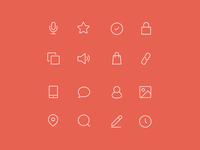Minimal Web and Product Line Icons