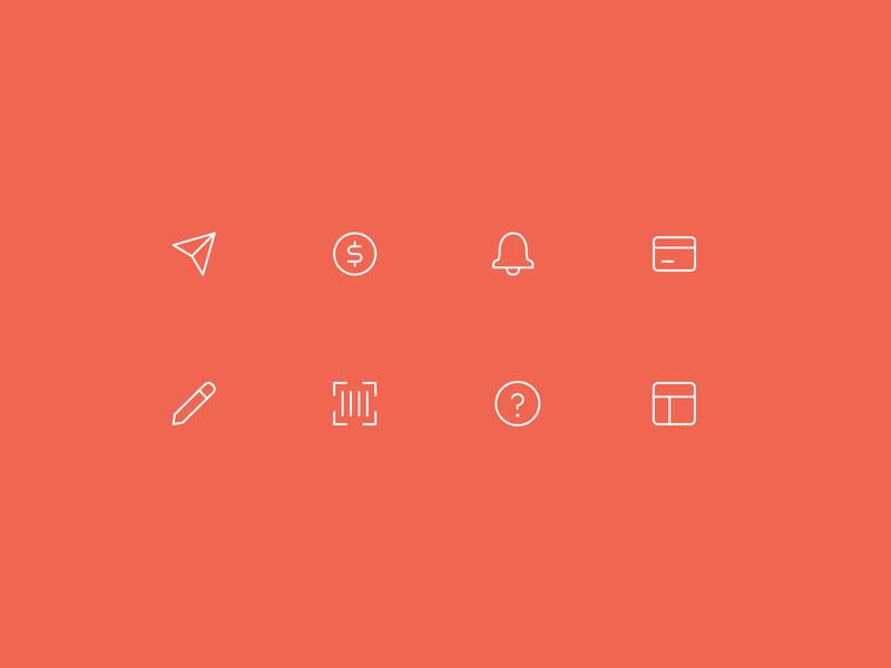 TouchBistro Icons icon design icon minimal icons mobile app web line icons ui app illustration icons minimalist minimal vector