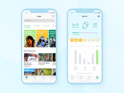 Language Learning App language learning app design illustration ux ui design ui ux