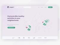 Healthy activities landing page