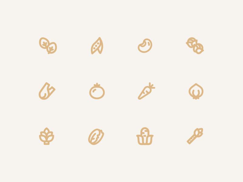 Veggiecons vegetable plant icon logo line icon flat icon digital illustration cute plant plant cute web vector app drawing ux ui design ux illustration design ui