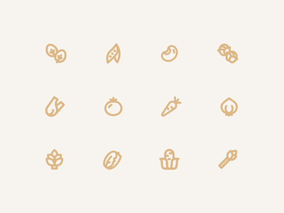 Veggiecons vegetable plant icon logo line icon flat icon digital illustration cute plant plant cute web vector app drawing ux ui design ux illustration design ui