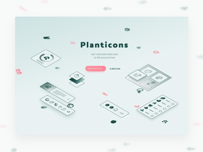 Planticons Icon Set website interaction animation webflow vegetables outline icons line icons landing page glyphs fruits icon logo plant digital illustration web vector ux ui design illustration ux design ui