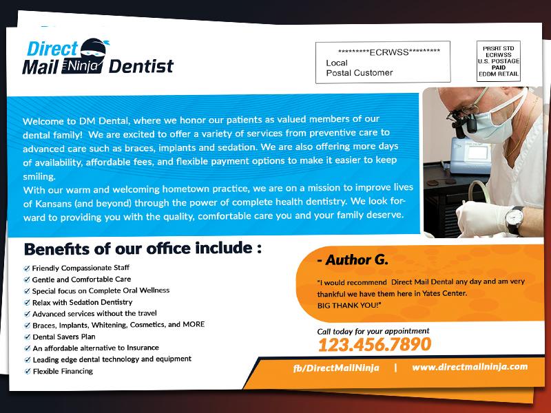 Dentist Eddm Postcard  Back side typography poster postcards postcard graphic flyer eddm directmail design