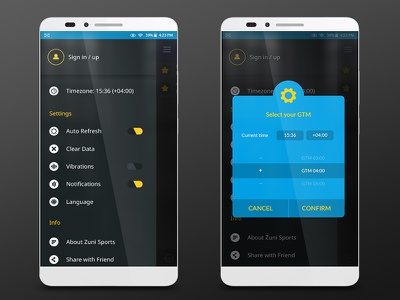 Timezone ui app sport cyan blue graphicdesign time timezone in sign