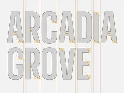 Logo Construction for Arcadia Grove grids identity design brand design typography branding logo