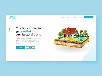 Archistudio Interface Design website concept website design design interface design logo branding typography ux ui
