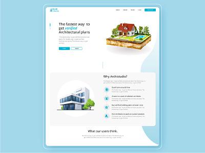 Archistudio Homepage Design web design typography ux ui identity design