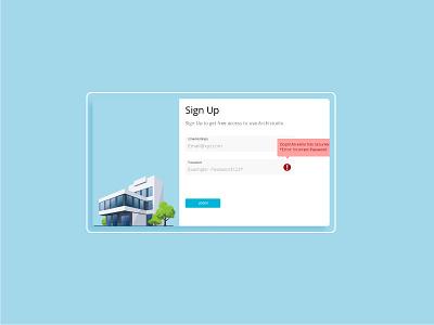 Sign up modal ux ui design sign up ui