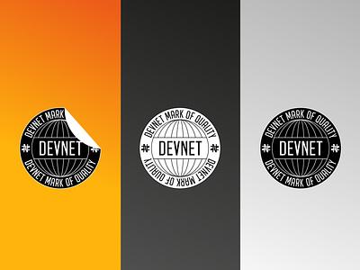 DEVNET Mark of Quality packaging vector typography brand design identity design design branding logo