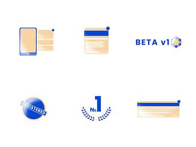 Pseudo 3d Icons II minimal web ui brand design illustration identity design icon app branding vector ux