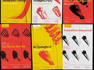 Sample Poster Designs For Shawarma King Branding halftone branding food illustration eximia studio design nigeria logo identity design king lagos shawarma