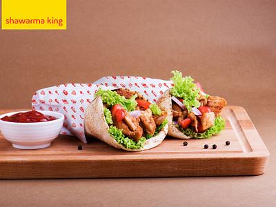 Package design for Shawarma King package design shawarma food logo illustration design identity design packagedesign