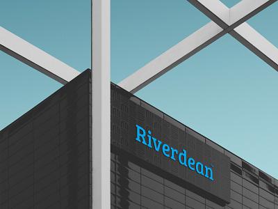 Riverdean Logo pattern typography vector golden ratio branding illustration design identity design marketing oil logo