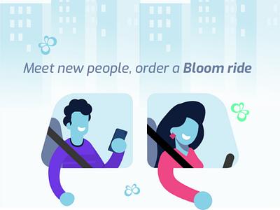 Bloom Brand Illustrations bloom. ride hailing logo branding brand design illustration