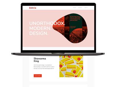 Eximia Design Studio Website UI Design interaction studio website ux ui